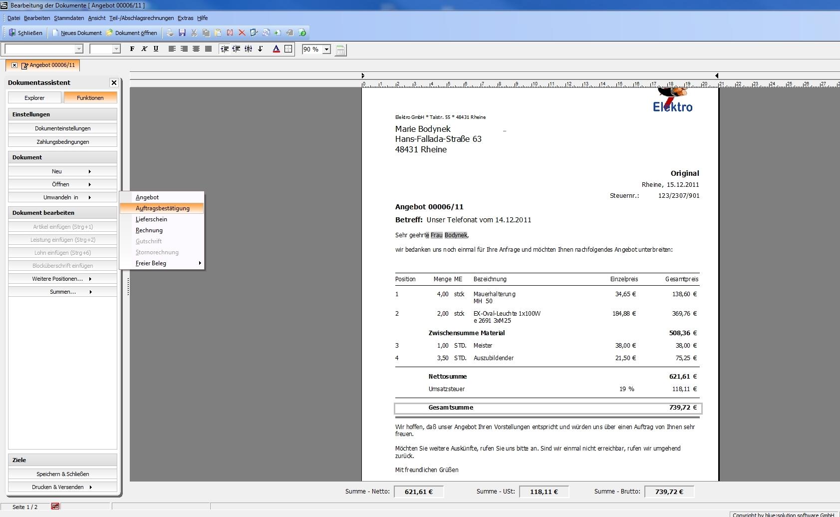 Handwerkersoftware Test Topkontor Handwerk